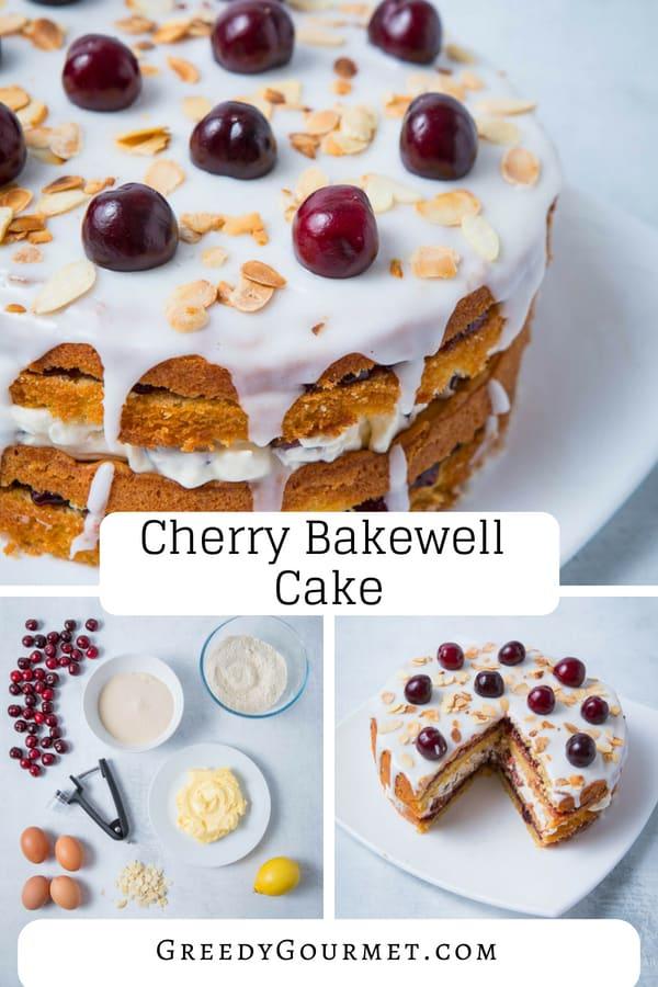 cherry bakewell cake pin