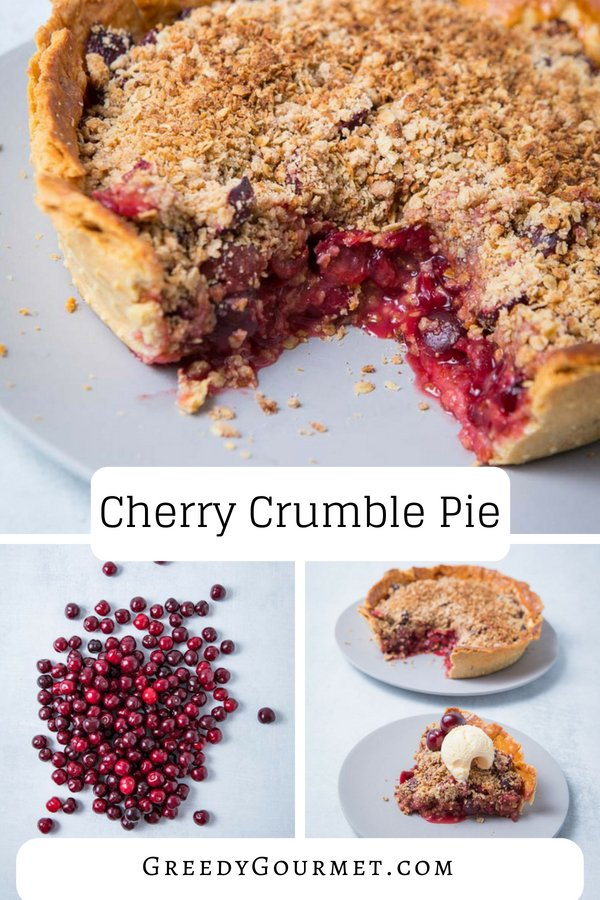 cherry crumble pie pin