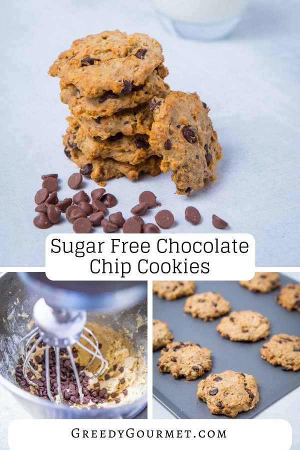 sugar free chocolate chip cookies pin