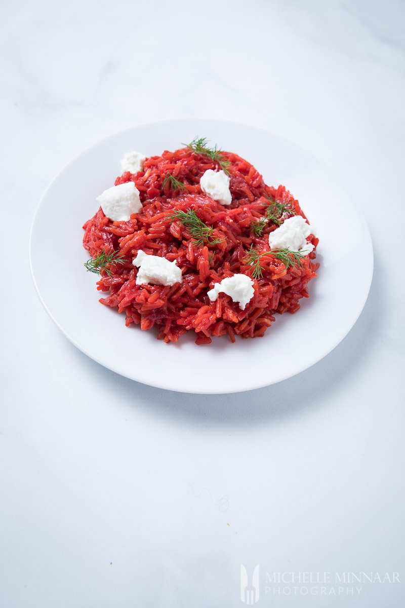 Risotto Cheese Beetroot