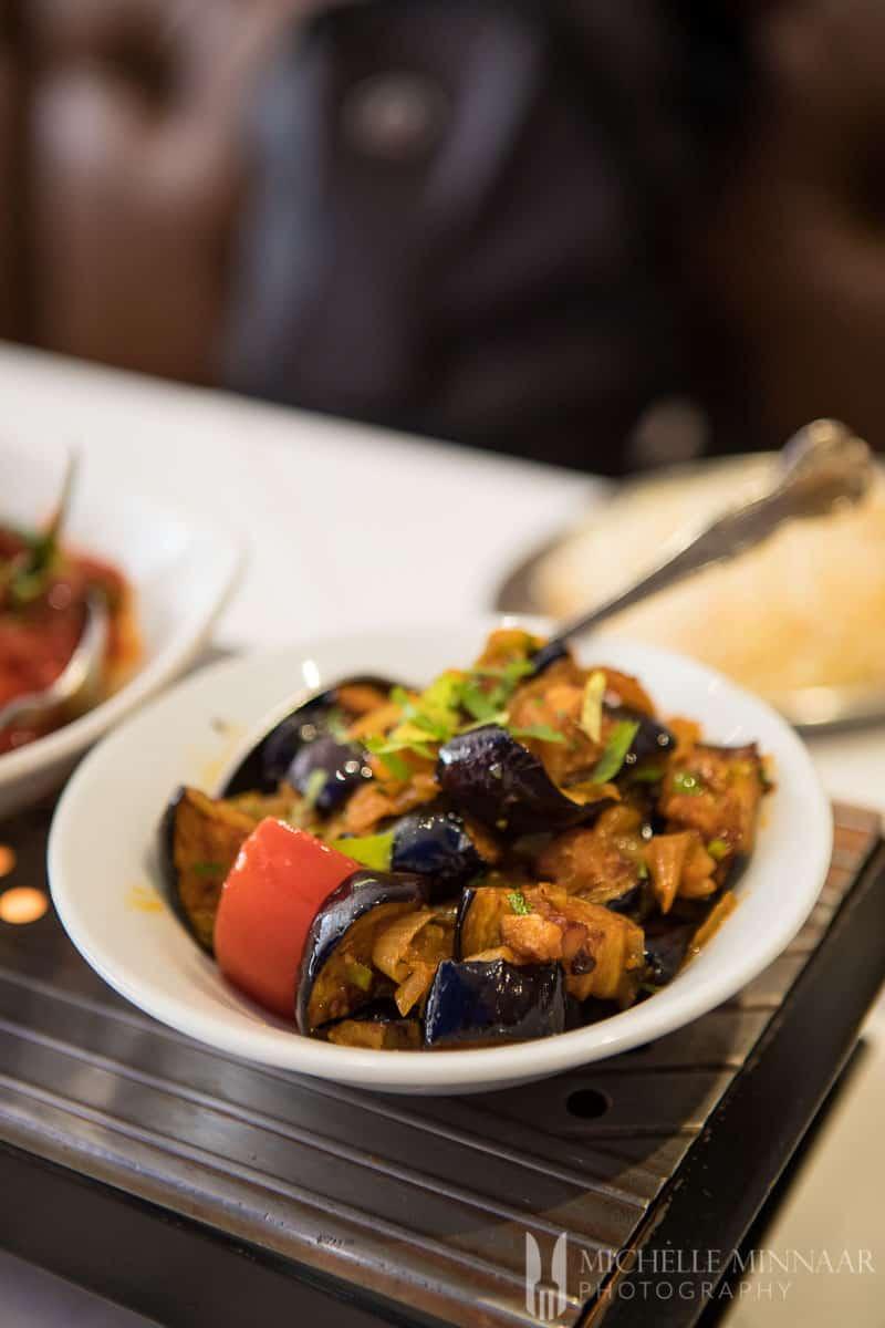 Eggplant dish at Bilash