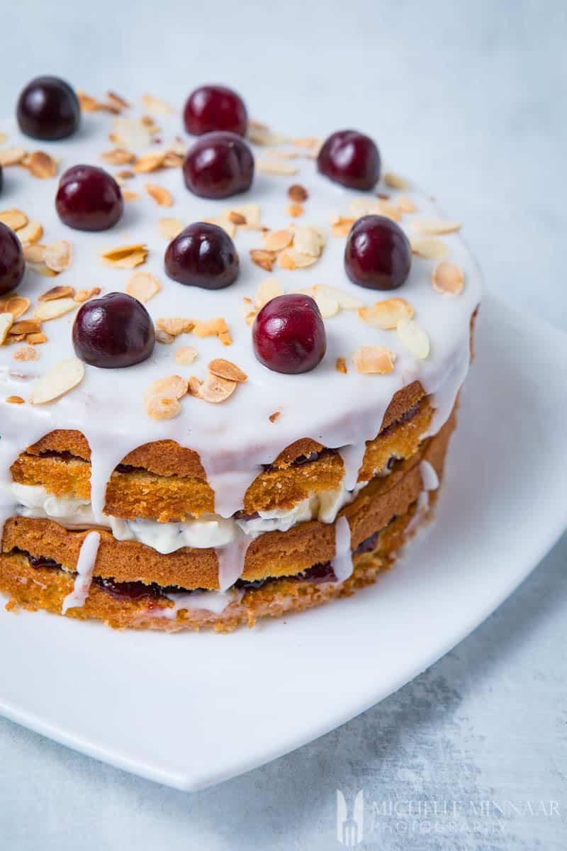 Bakewell Cake Cherry