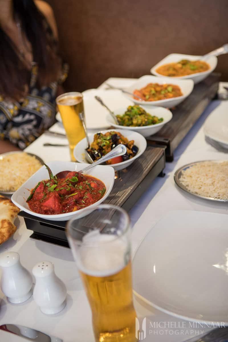 A close up of the food at Bilash