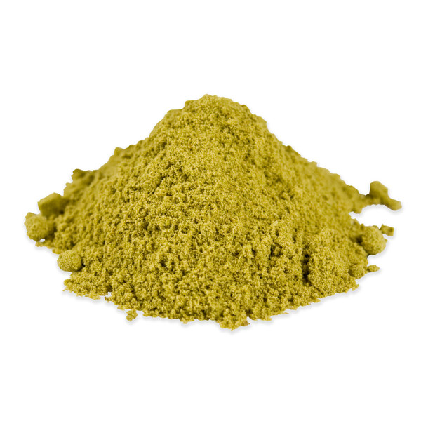 A pile of green jalepeno powder as a paprika substitute
