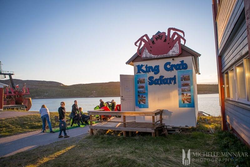 King Crab Safari sign
