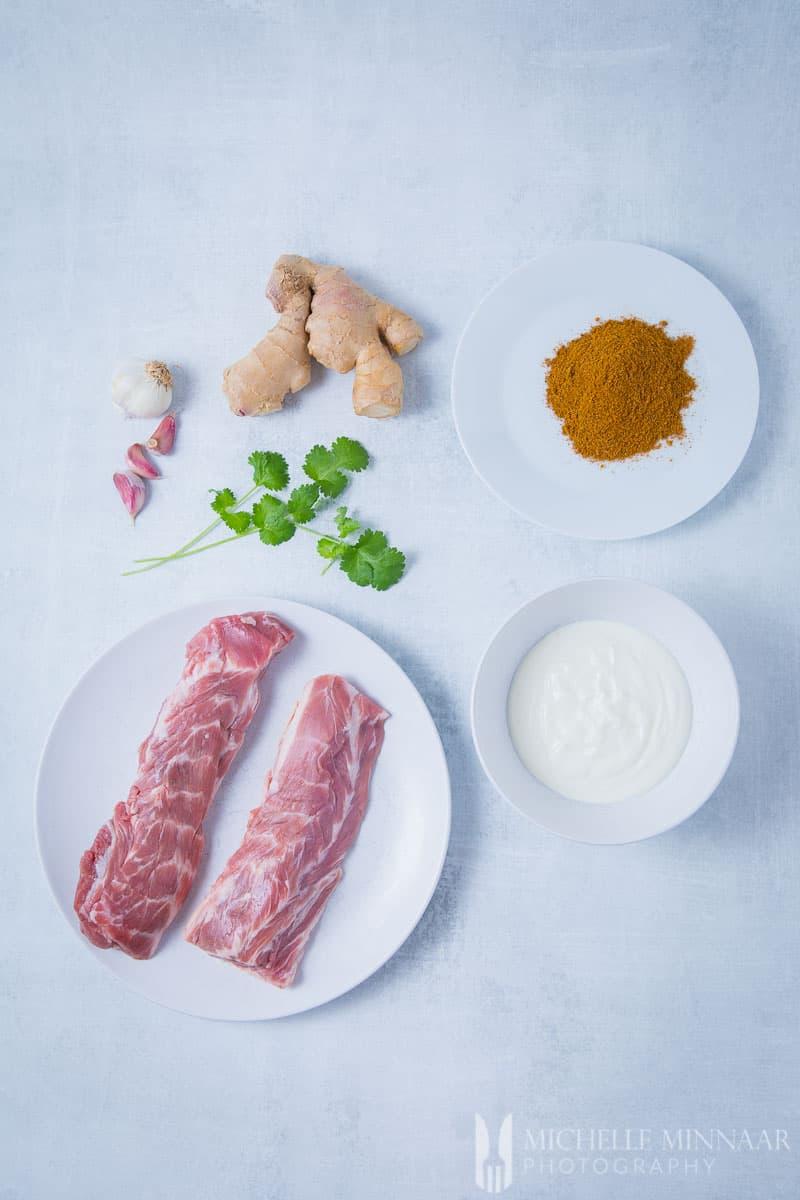 Ingredients for Lamb Tikka - Spices Yogurt Lamb Neck Fillets