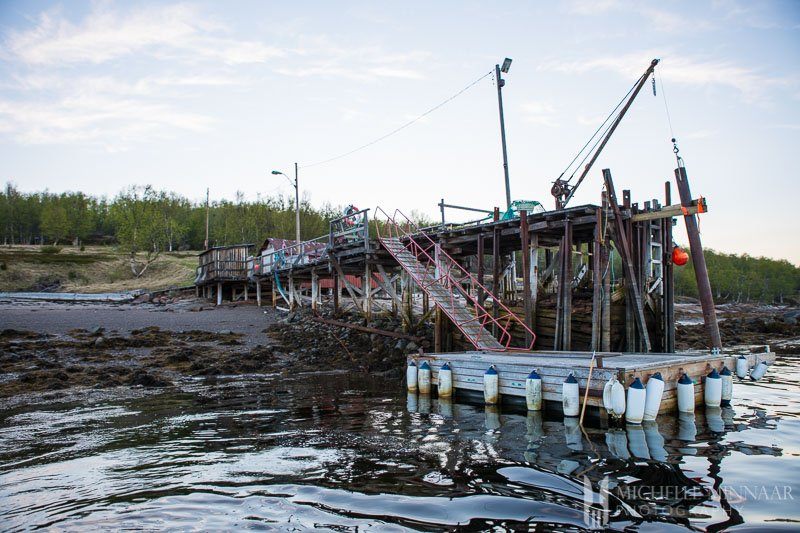 The run down dock of the King Crab Safari
