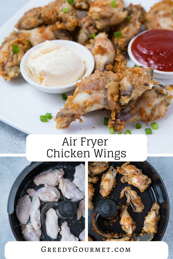 air fryer chicken wings pin