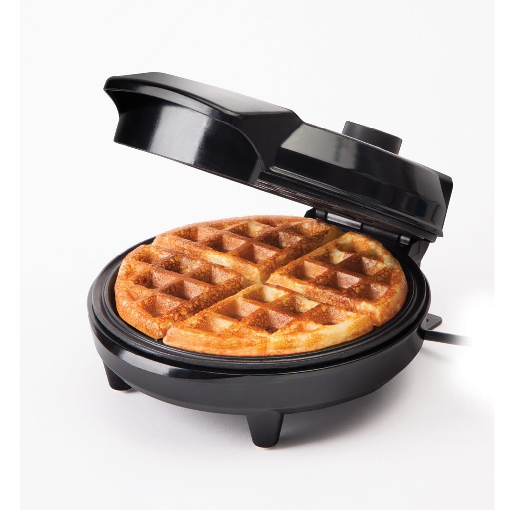 Waffle Maker with a waffle inside of it
