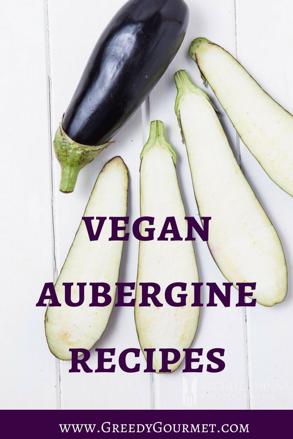 vegan aubergine recipes pin