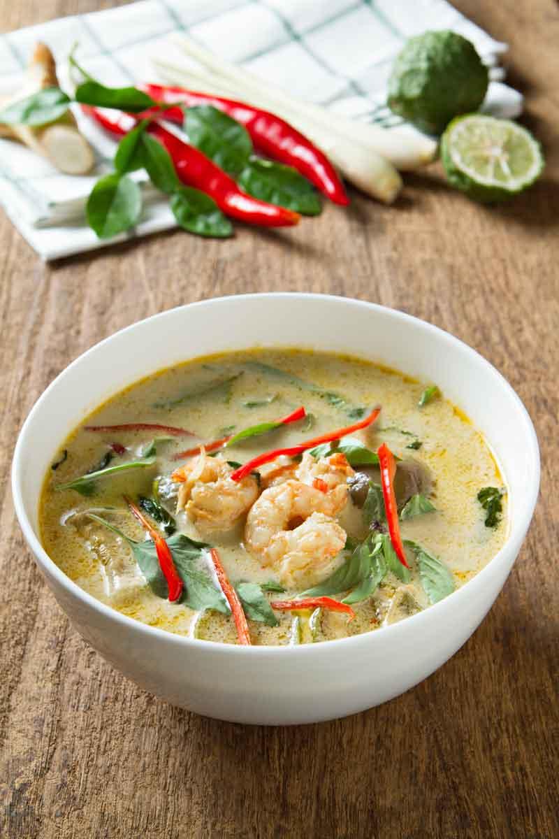 Bowl of shrimp in liquid