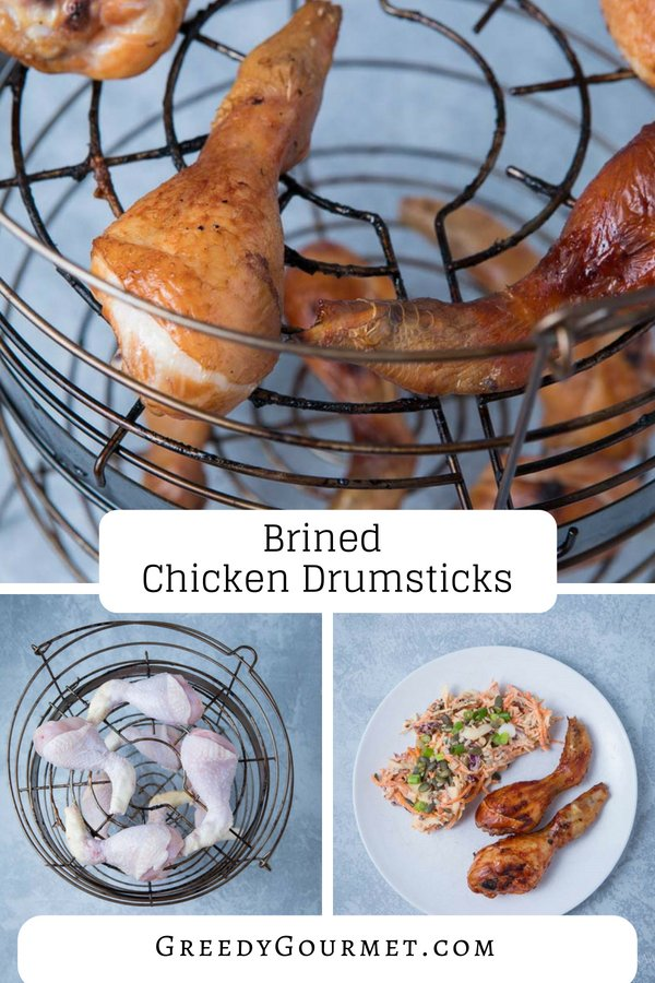 brined chicken drumsticks pin
