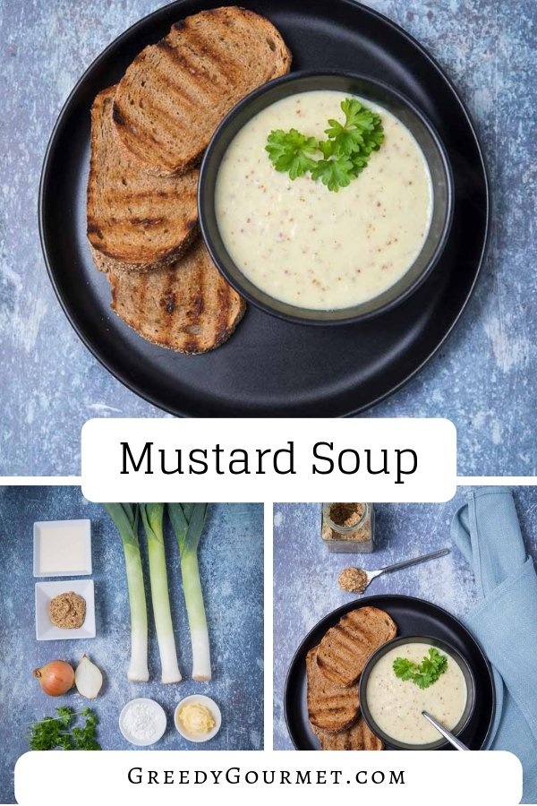 A #mustard #soup, called #moesterdsoep, comes from the #Netherlands. Mustard soup is best served with ham or bacon, plus your favourite fresh bread! Do you know how to make mustard from scratch? #comfortfood #dutch #europeanfood #easytomake
