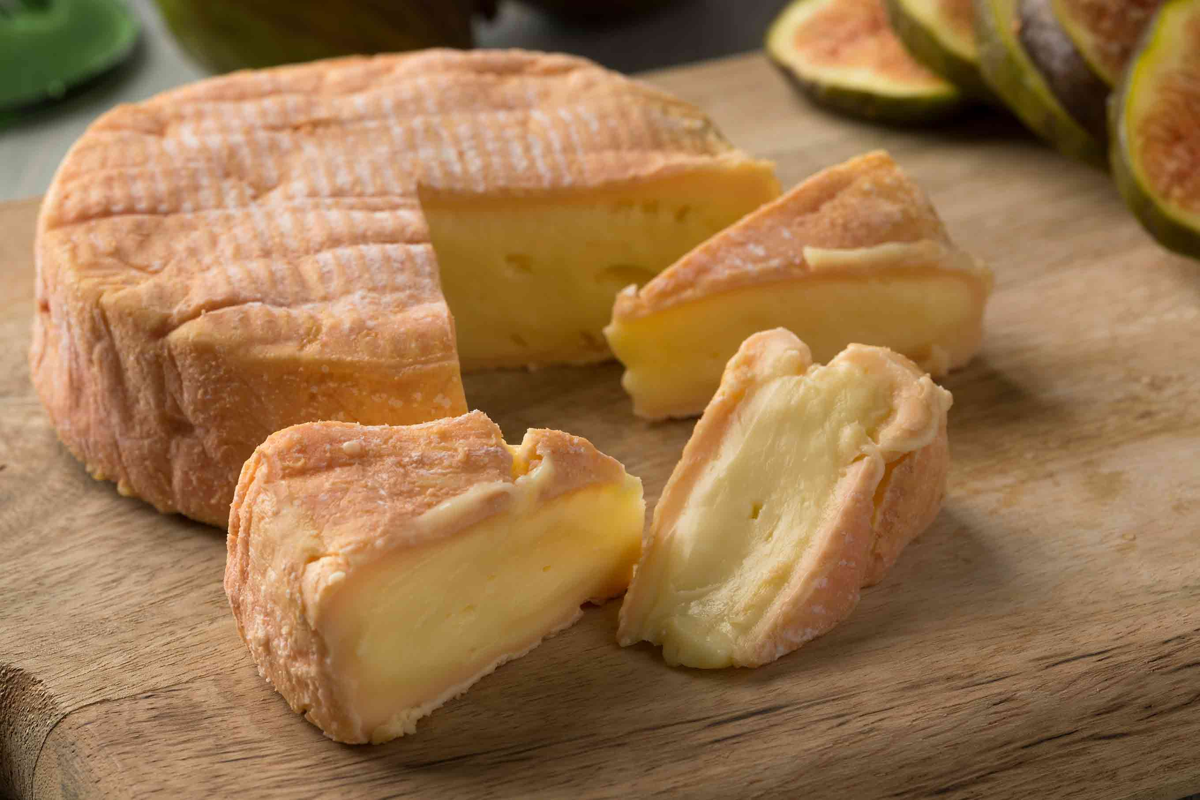 wheel of soft munster cheese
