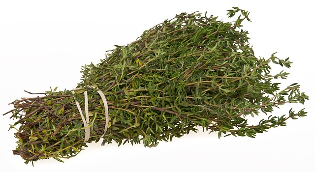 A large bunch of thyme as a sage substitute