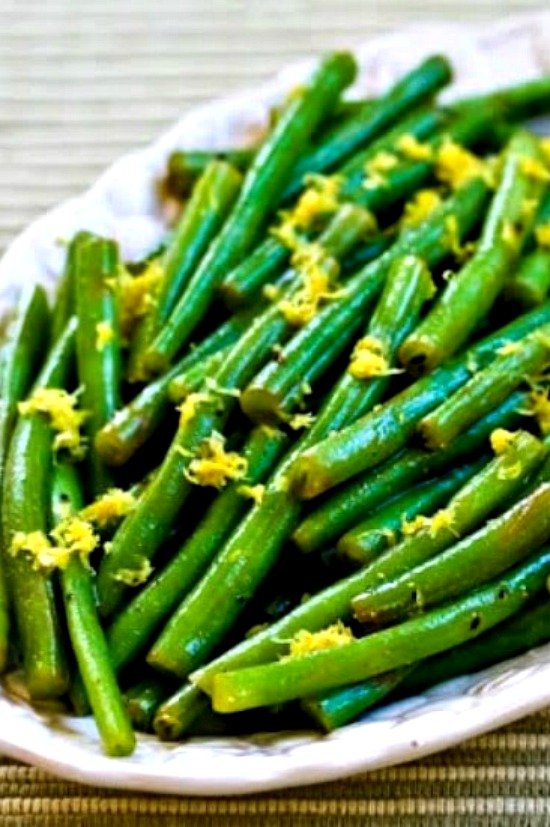 Greenbeans on a plate
