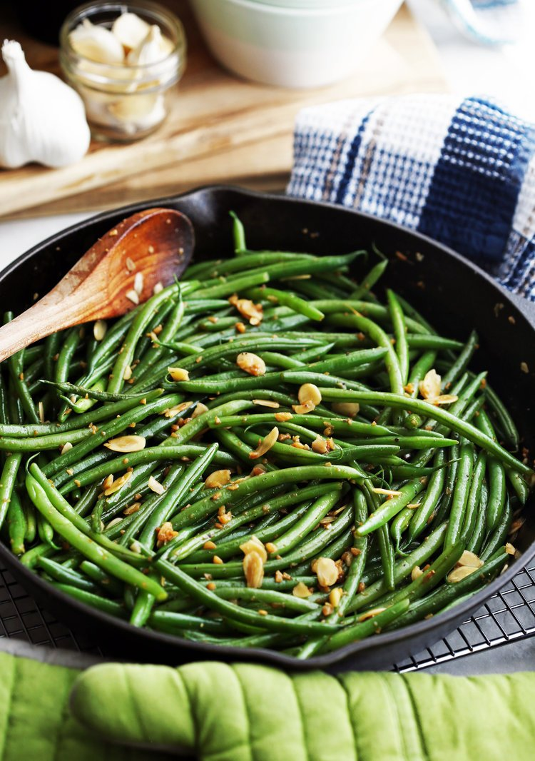 Greenbeans in a skillet
