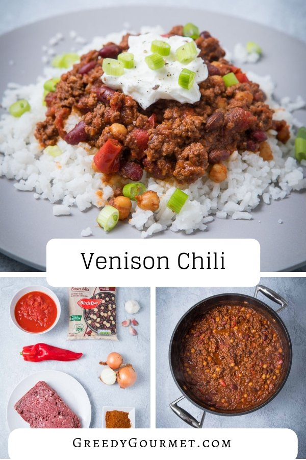 Make this venison chili and you'll replace it as your favourite in comparison to the traditional beef chili recipe. A tasty & spicy venison chili recipe. #chilli #venison