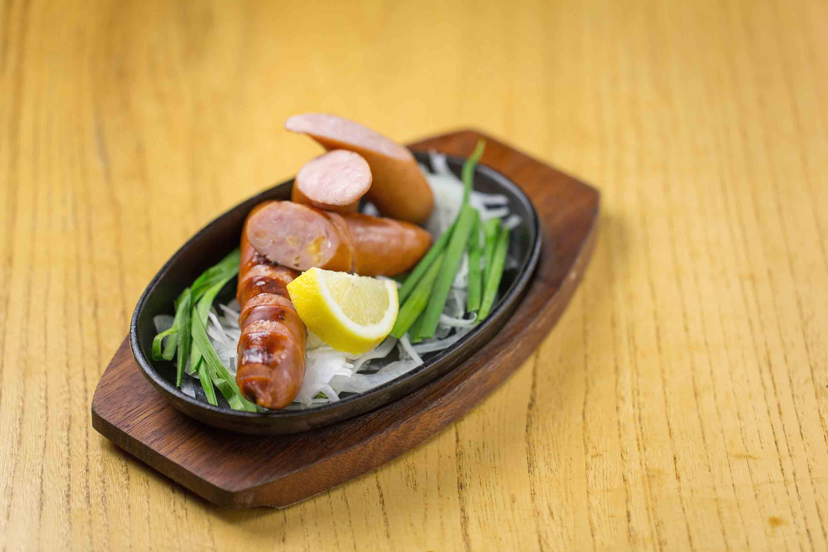 A plate of andouille sausage