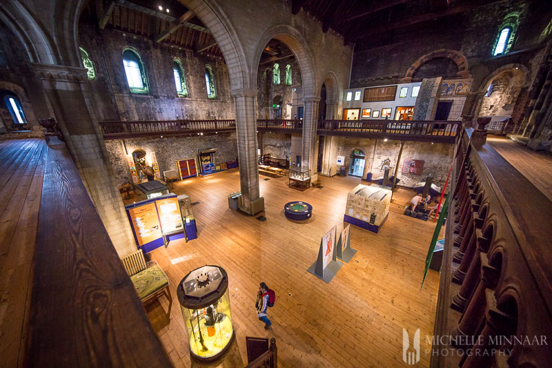 The interior of norwich castle museum