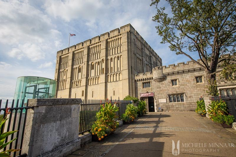 The exterior of norwich castle museum