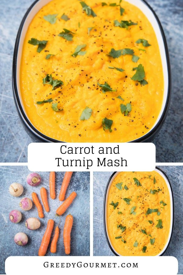 Replicate this carrot and turnip mash recipe in just a few steps. Substitute with other root vegetables. Add herbs such as thyme & spices for extra flavour.