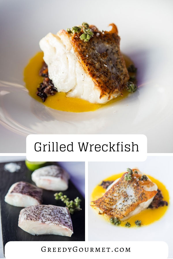 Grilled wreckfish is a delicacy. A wreckfish lives in deep seas and hides in caves and shipwrecks. With its firm white flesh, it's perfect for the grill. #seafood #fish