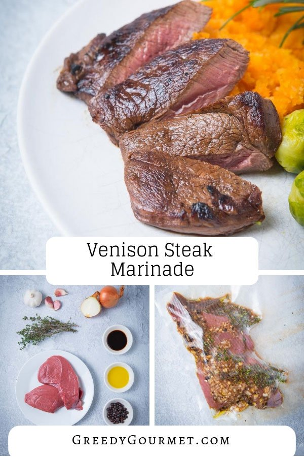 This venison steak marinade can turn any venison steak recipe into a gourmet steak meal. Make the steak marinade your own and pair the venison with a mash.