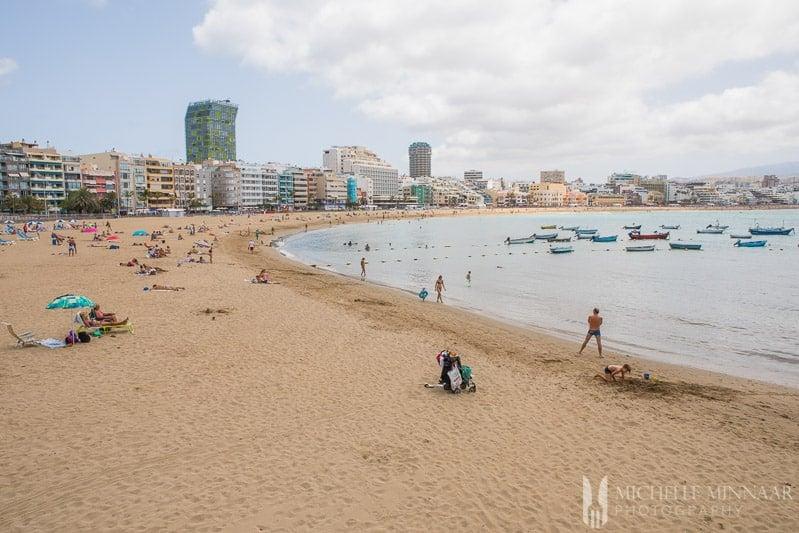 A beach scene in spain