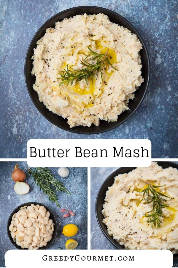 A herby butter bean mash with rosemary. Make this simple and vegan butter bean mash recipe in just a matter of minutes. It is inexpensive and nutritious.