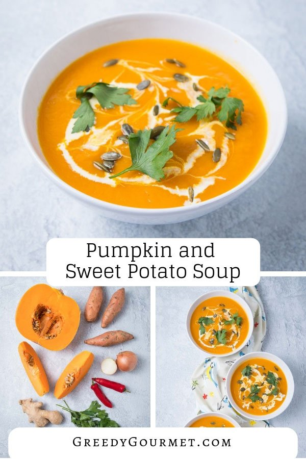 Make this pumpkin and sweet potato soup in just a few steps and master this ultimate vegan soup recipe. Use any type of pumpkin, spice it up and enjoy!