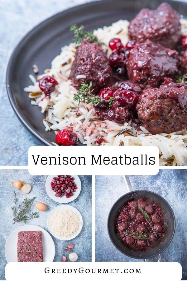 Make this easy homemade venison meatballs recipe in just a few steps. Use fresh cranberries, cranberry jam, port and wine to make the tasty berry sauce.
