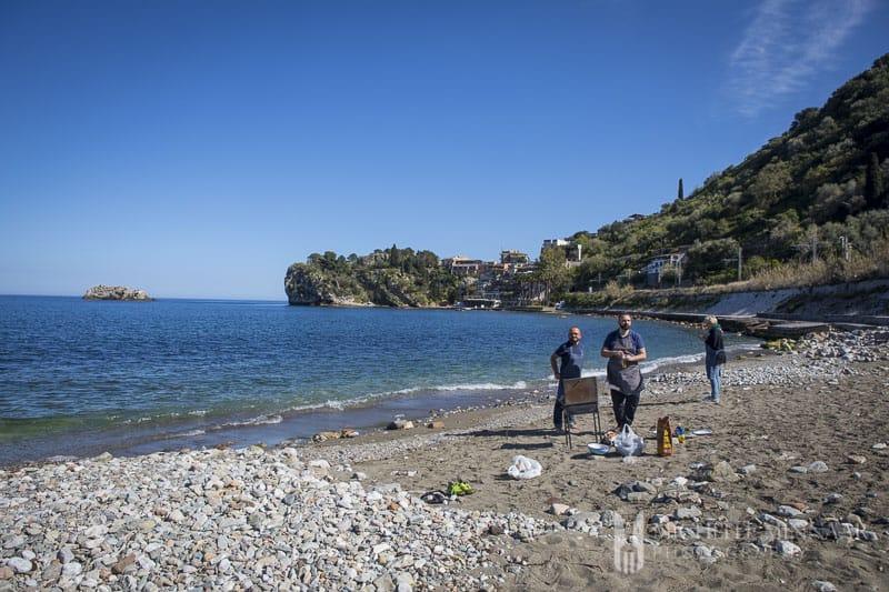 A beach in Sicily
