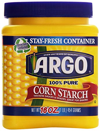 A jar of cornstarch