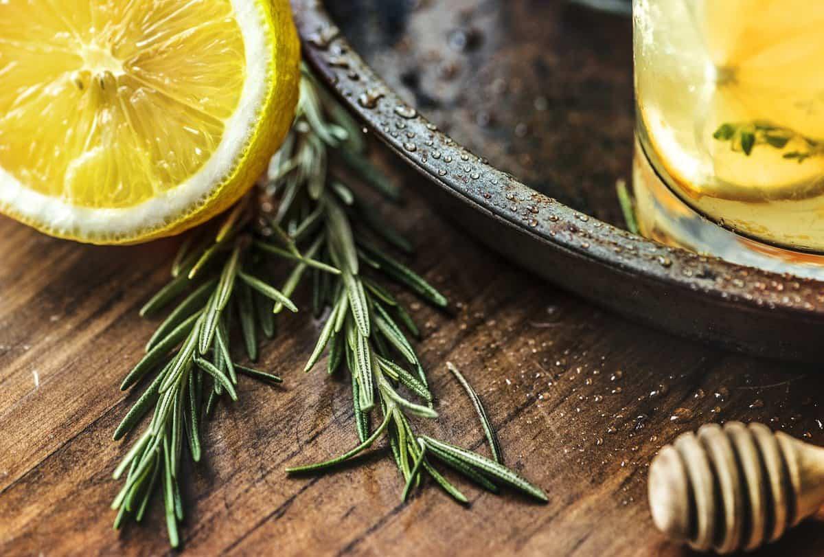 Two springs of lemon thyme