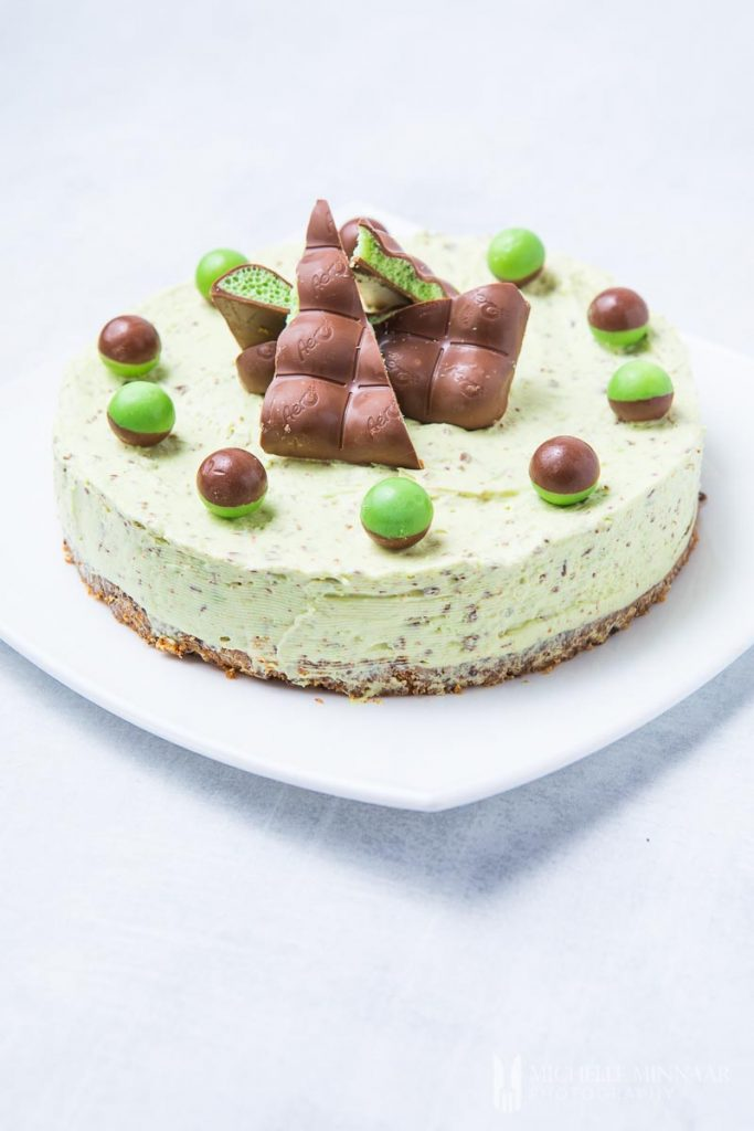 A full aero mint cheesecake