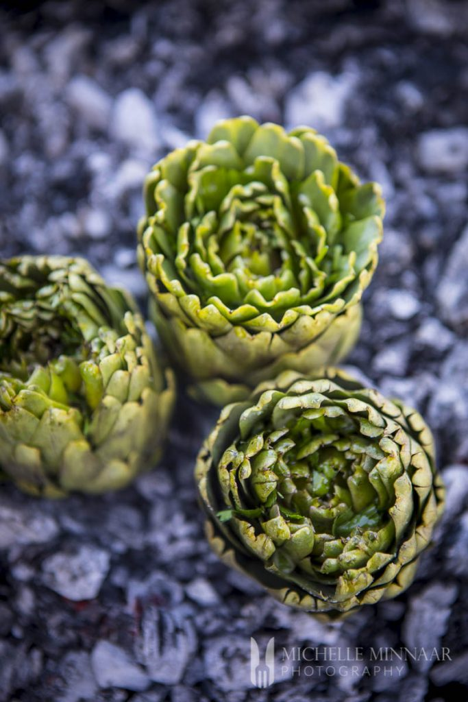 Artichokes Barbecuing