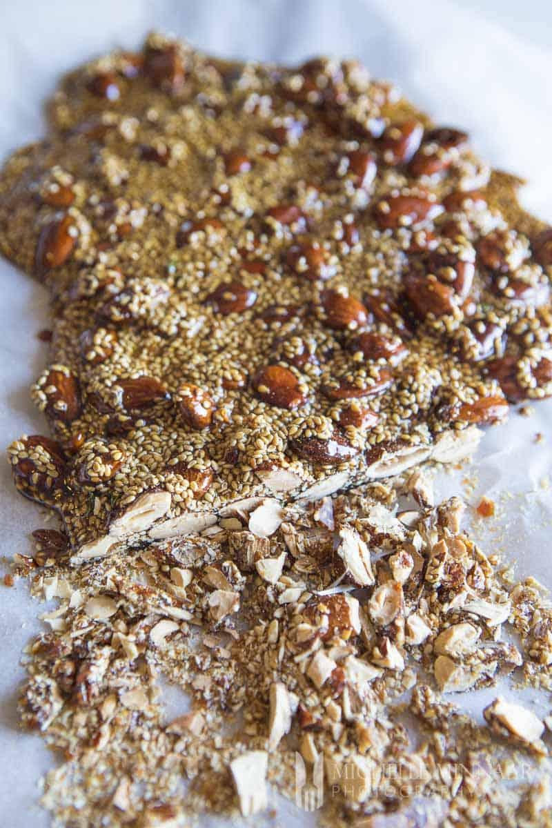 Almond Brittle sliced