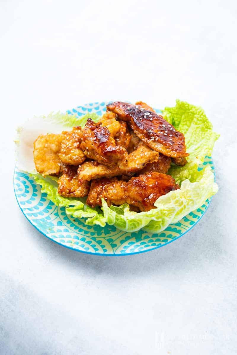 A close up of marmite chicken