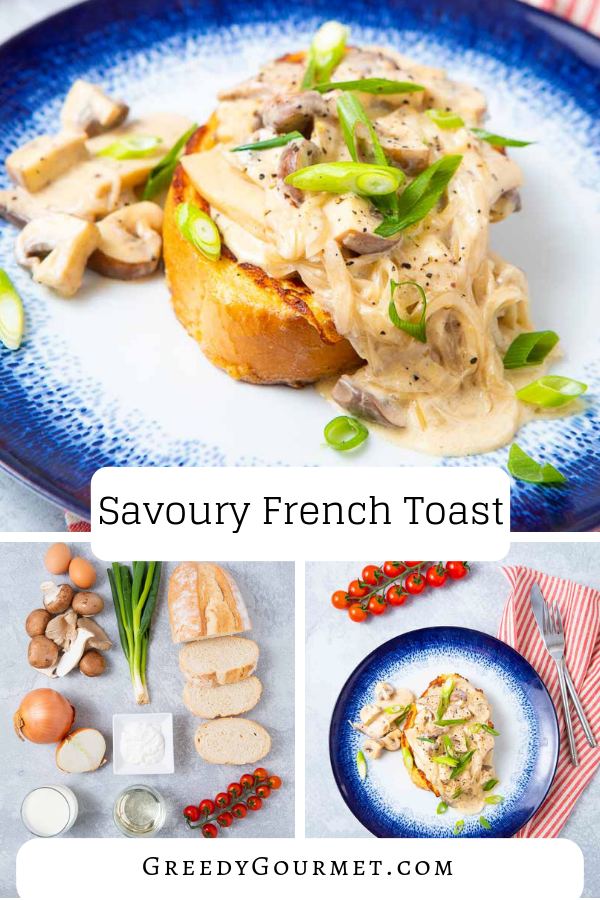 Make this amazing savoury french toast for brunch, breakfast, lunch, dinner, whatever! It is so easy and simple, you'll want to make it every day. Enjoy!