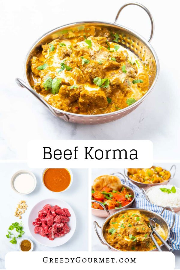 A bowl of beef korma
