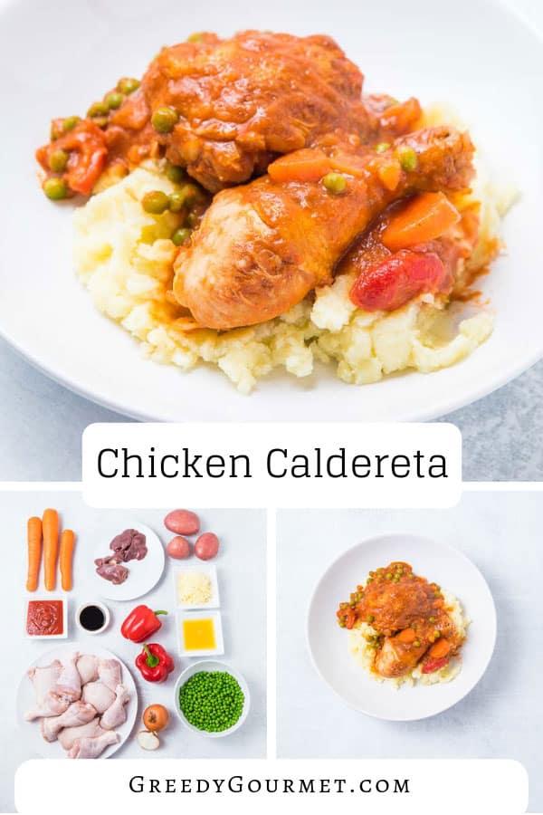 A plate of chicken caldereta