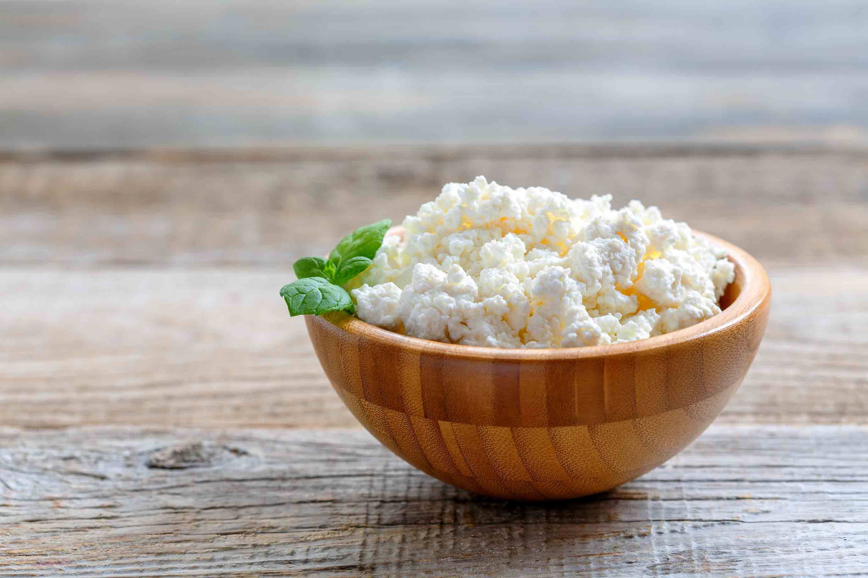 A bowl of cottage cheese