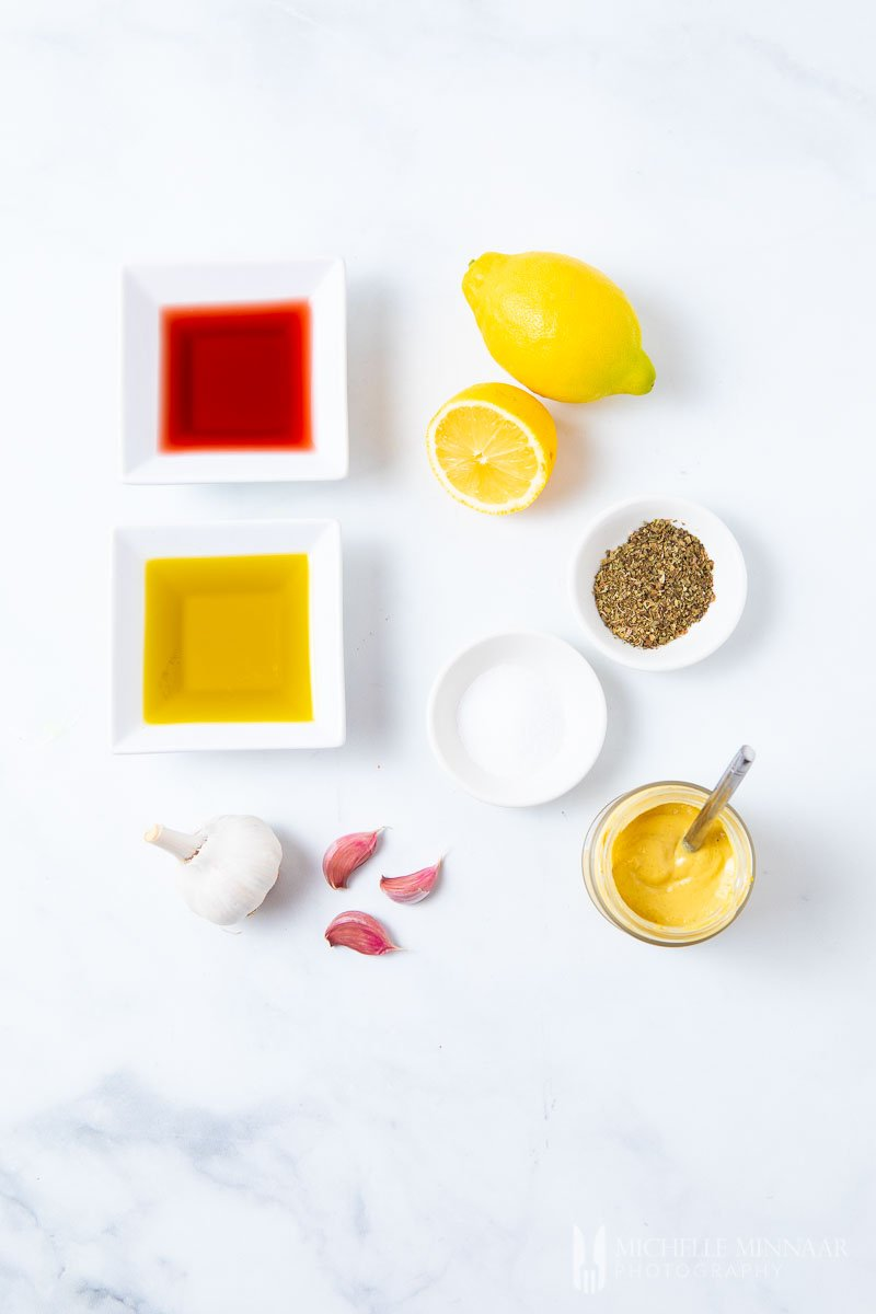 Ingredients to make Mediterranean Salad Dressing