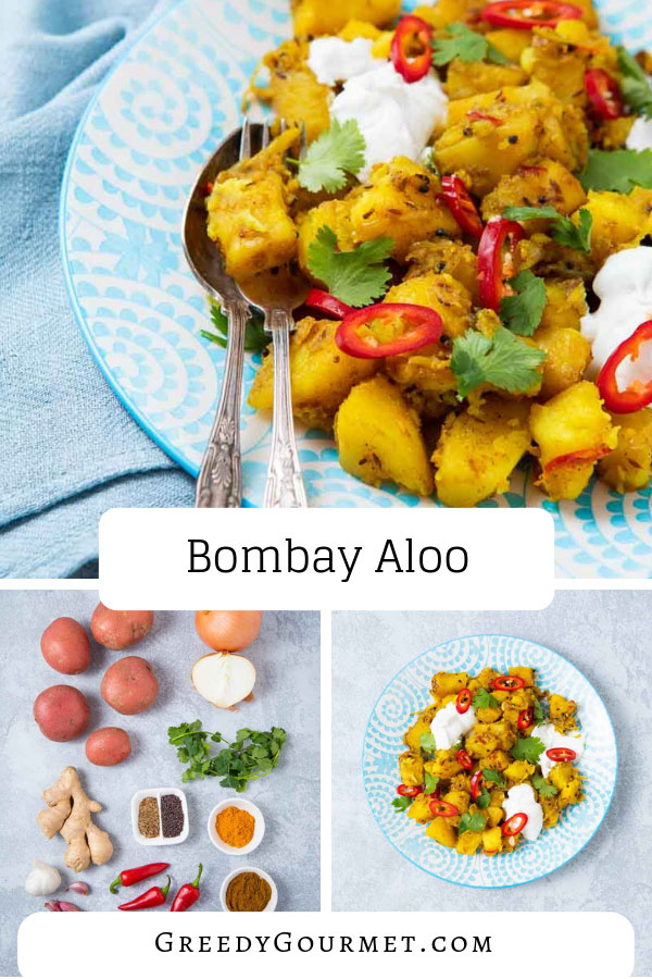 a plate of bombay aloo