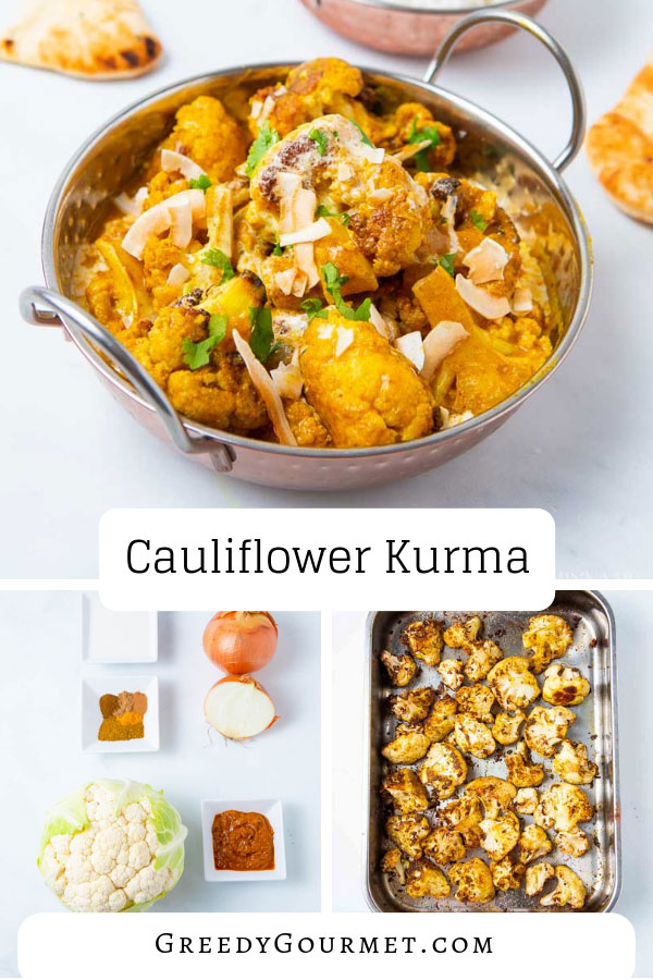 A bowl of cauliflower kurma