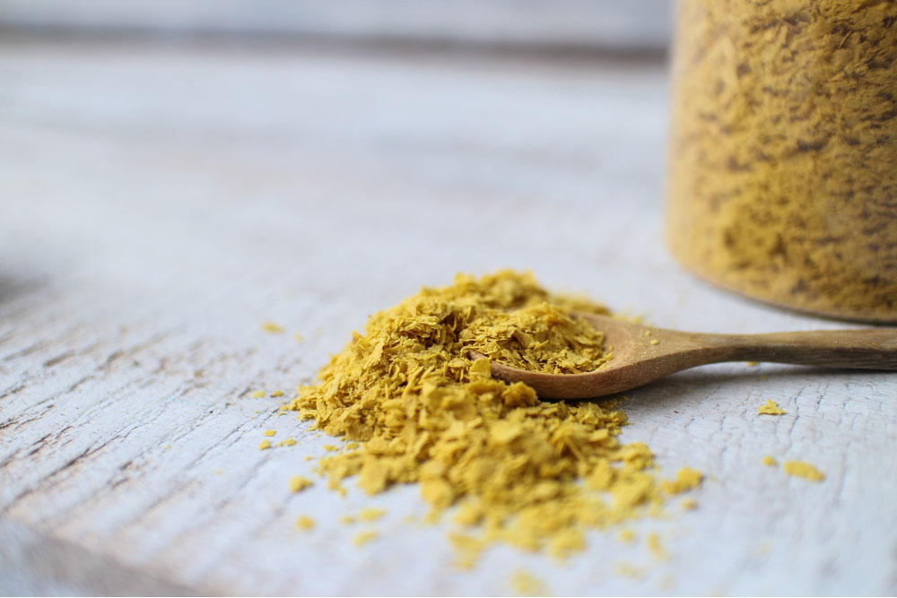 Yellow powder of nutritional yeast