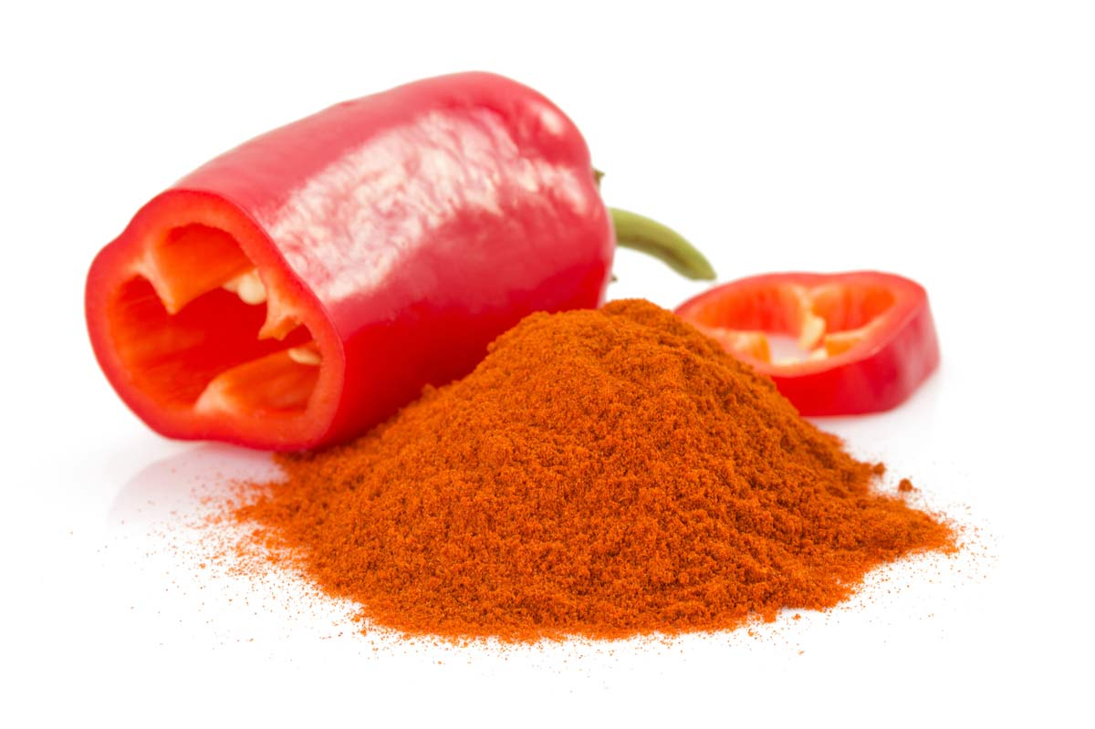 One red pepper and powder
