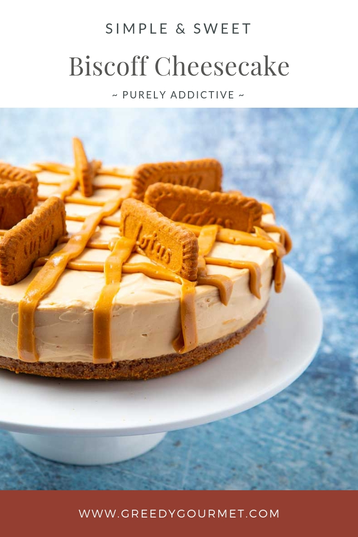 A full biscoff cheesecake