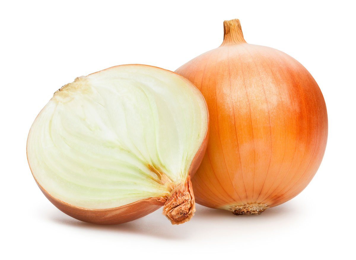 Two large white onions